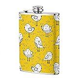 XBYC 8oz Frasco de acero inoxidable Cute Bird 1 Hip Flask 1 Pack Gran regalo para hombres