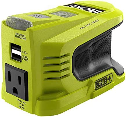 RYOBI 150 Watt Powered Inverter Generator with 2 USB Ports and One 120 Volt Outlet Compact Lightweight product image