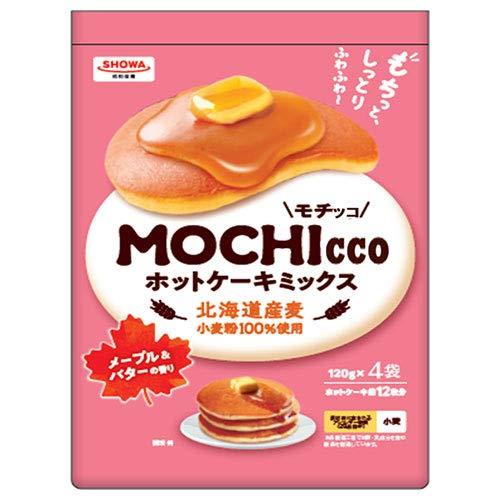 昭和産業 MOCHIcco(モチッコ) ホットケーキミックス 480g(120g×4袋)×6箱入