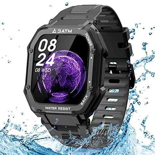 EPILUM Smartwatch Hombre Mujer, Reloj Inteligente Impermeable, con GPS Podómetro, Presión Arterial, Calorías, SpO2, Pulsómetro, 20 Modos Deportivos Reloj Deportivo al Aire Libre,1.69