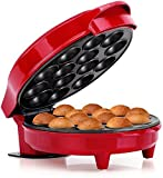 Holstein Housewares HF-09014R Cake Pop Maker, Red/Stainless Steel (Renewed)