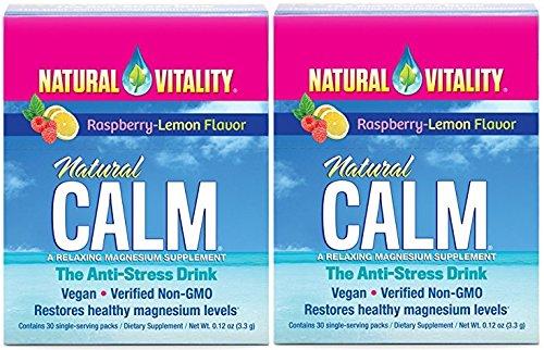 Natural Vitality Natural Calm Anti Stress Drink (Raspberry Lemon, 60 Packets)