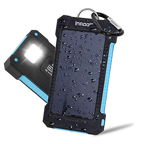 Innoo Tech Cargador Solar 10000mAh, Power Bank portátil con