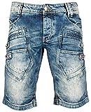Redbridge Jeans Denim Shorts Herren Kurze Hose Sweat Jeans-Short R31151 (W31, Blau)