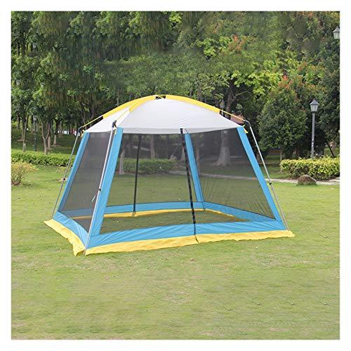 Yanchuan Tela De La Sombra del Sol Tabaño al Aire Libre 5-8 Personas Sombreado Mosquito a Prueba de casa Tiendas de hogar Camping al Aire Libre Barbacoa Playa Exterior Gazebo Grande (Color : Blue)