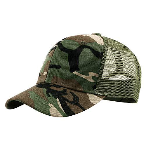 Toruiwa Unisex Kappe mit Mesh Tarnmuster Baseball Cap Verstellbar Mütze UV-Schutz Hip Hop Hut Sonnenhut für Herren und Damen Sommer