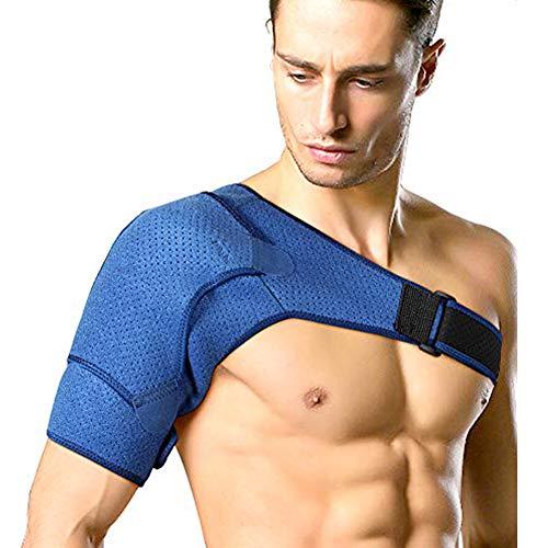 Neopren Verstellbare Schulterbandage, Kompression Schulterschutz Schultergurt für Reduziere Schulterschmerzen, Sportverletzungen, Schulterwärmer, für Linke und Rechte Schulter, Männer & Frauen