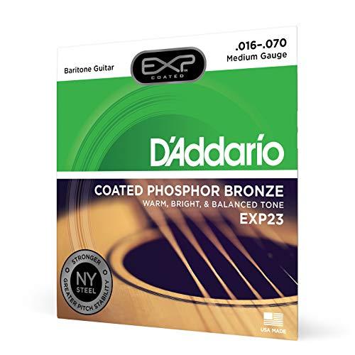 D'Addario EXP23 - Juego de cuerdas para guitarra acústica de fósforo/bronce.016 - .070