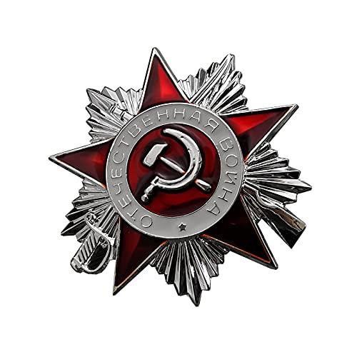 Medalla de la Segunda Guerra Patriótica Soviética,Insignia de Pin de Metal de la Mini Orden de la Segunda Guerra Mundial,Decoración Militar Soviética,Medalla de Recuerdo Insignia de la Medalla Militar