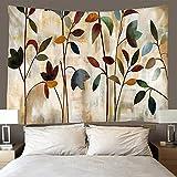 shuimanjinshan Tapiz Hojas de Colores Tapiz De Pared Decoración De La Habitación Sábana De Picnic Mantel (A-1574) 240X260Cm