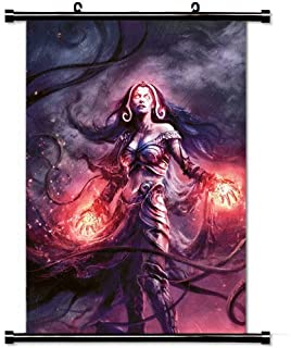 Home Decor Art Movie Poster with Liliana Vess Magic The Gathering Game Wall Scroll Poster Fabric Painting 23.6 X 35.4 Inch (60cm X 90 cm)