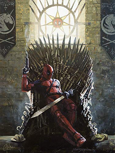 deadpool x game of thrones wall art print Best Gifts for Deadpool Fans