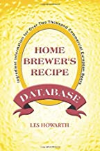 The Home Brewer's Recipe Database: Ingredient Information for Over Two Thousand Commercial European Beers