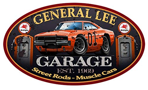 General Lee Dodge Charger Classic Car-toon Wall Art Graphic Decal Sticker (3 Ft)