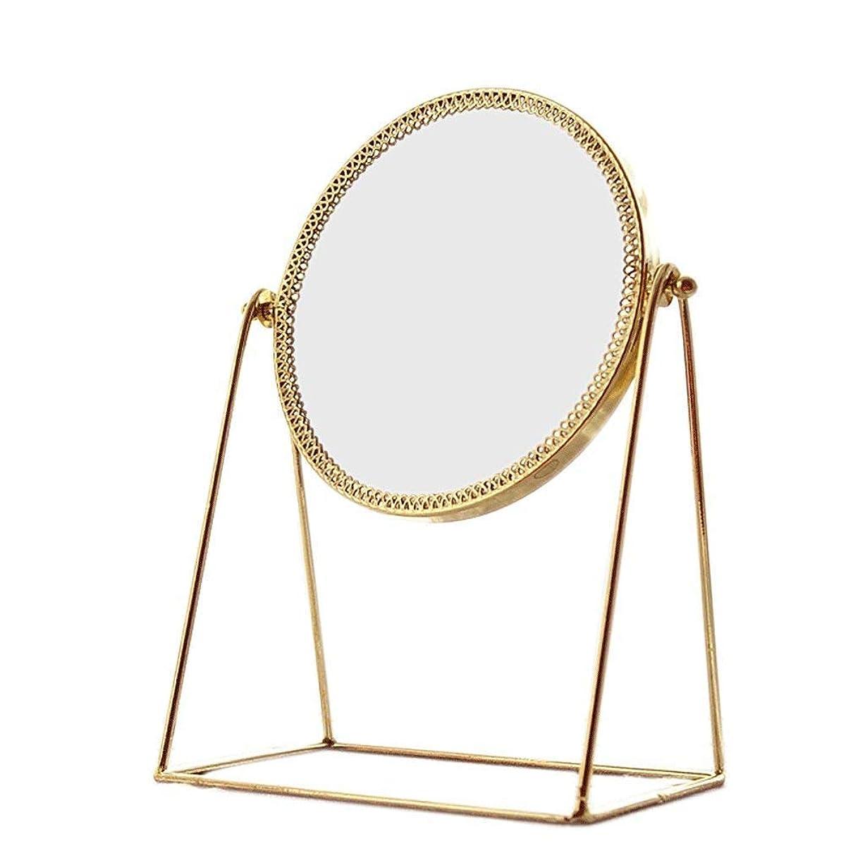キャップ感性先駆者ZYL-YL 表ミラー表鏡シンプルなゴールド銅ミラーウェディングミラーポータブル化粧鏡ハイ?デフィニションミラー高解像度ミラー容易ではないに錆