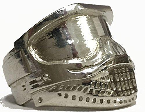 Centraal Planbureau crear joyas Paintball-Anillo de plata-Máscara para Paintball, plata 925/1000eme-talla: 60