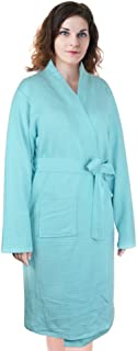 Women's Waffle Bathrobe,Lightweight Spa Sleep Robe Cotton Kimono Knee Length
