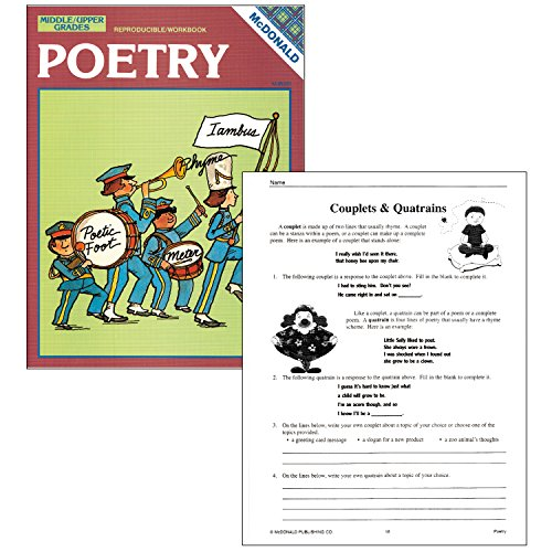 McDonald Publishing MC-R263 Poetry Reproducible Book, Grade: 6 to 9, 0.3' Height, 8.6' Wide, 11.3' Length