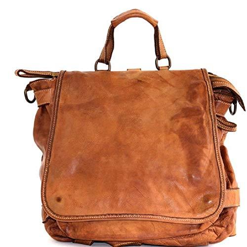 BZNA Bag Anna cognac Backpacker Designer Rucksack Ledertasche Damenhandtasche Schultertasche Leder Nappa sheep ItalyNeu
