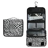 Funnyy - Beauty case da viaggio con zebra, da appendere, per cosmetici, accessori per il trucco, per donne, ragazze e bambini, impermeabile, idea regalo