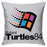 109 Mutant Turtles 84 TMNT Windows Logo Pillowcase, Double-Sided Printing, Hidden Zip Pillowcase, Beautiful Printed Pattern Pillowcase 18inch18inch