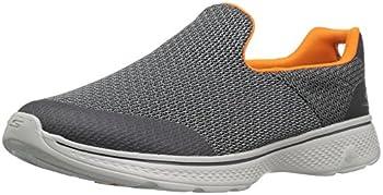 Skechers Performance Men s Go Walk 4 Incredible Walking Shoe Charcoal/Orange 10.5 M US
