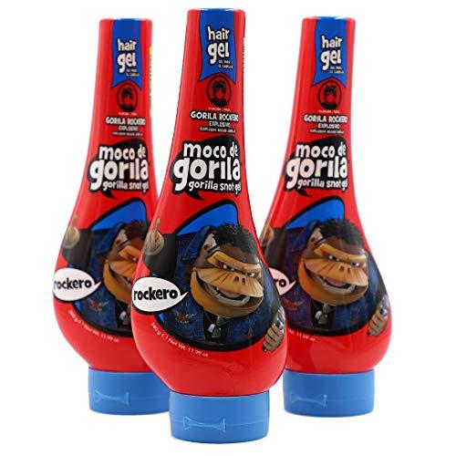 MOCO DE GORILA Moco De Gorila Rockero Squizz, paquete de 3 botellas de 12 onzas, 3 unidades