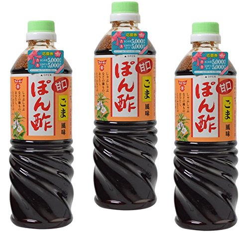 フンドーキン 甘口ごま風味 ぽん酢 720ml×3本