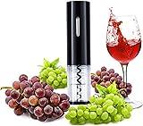 CENT Sacacorchos Electrico Abrelatas de Vino Acero Inoxidable Profesional Automático Abridor de Botellas de Vino Herramientas Portátiles para Hogar Bar (Negro)