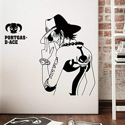 Diseño de pared de vinilo de dibujos animados decoración anime pirate king guapo personaje etiqueta de la pared decoración de niño