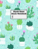 Blank Sheet Music Notebook: Easy Blank Staff Manuscript Book Large 8.5 X 11 Inches Musician Paper Wide 12 Staves Per Page for Piano, Flute, Violin, ... other Musical Instruments - Code : A4 8348