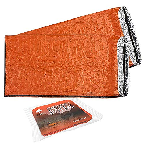 2 Premium Emergency Bivvy Bag - Survival Sleeping Bag, Emergency Blanket, Bushcraft - Thermal Insulation, Tear-Resistant Polyethylene - High Visibility, Portable, Weatherproof| Outdoor Camping Hiking