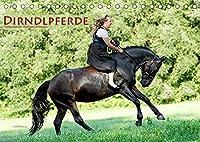 Dirndlpferde (Tischkalender 2022 DIN A5 quer): Wunderbare Dirndl und besondere Pferde (Monatskalender, 14 Seiten )