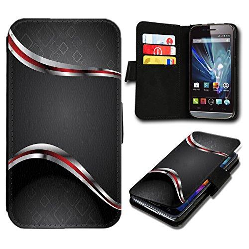 sw-mobile-shop Book Style Huawei Ascend Y300 Premium PU-Leder Tasche Flip Brieftasche Handy Hülle mit Kartenfächer für Huawei Ascend Y300 - Design Flip SB4