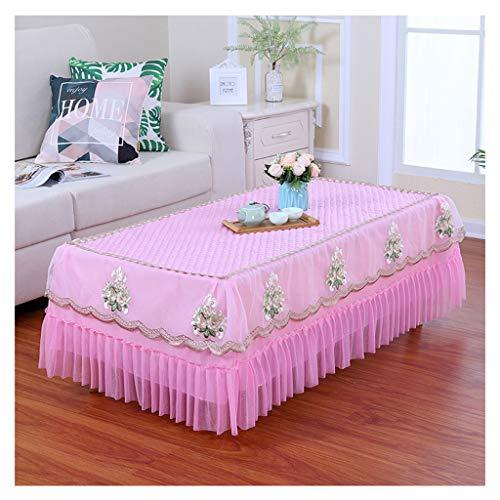 Qiao Jin & tafelkleden – rechthoekig woonkamer kant eettafel TV kast tafelkleed roze tafelkleed