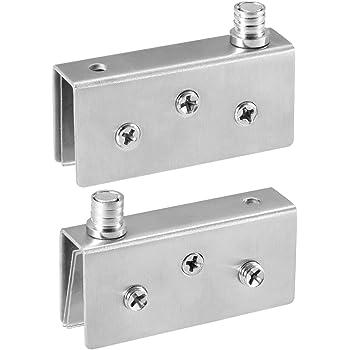 ZREAL 1//2//4 Pi/èce en Acier Inoxydable pour Porte en Verre Pivot DE 5 40mm*9mm*30mm 4pcs 8 mm