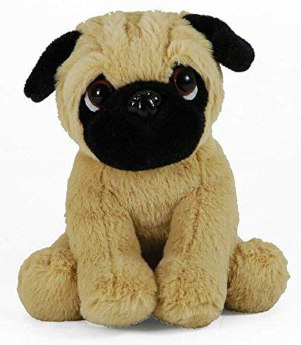 Plüschtier Hund Mops, Supersüß kuscheltier, Stofftier sitzend ca. 18 cm