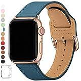 SUNFWR Compatible pour Bracelet Apple Watch 42mm 44mm,Top en Cuir Véritable Bracelet,Multicolore de Montre Compatible...