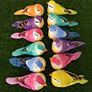 12pcs Artificial Simulation Foam Birds Feather Mini Love Birds for Craft Home Ornaments Garden Wedding Decoration Embellishing 9cm/3.54inch (12pcs, Claw)