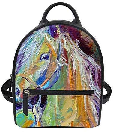 3D Digitaldruck Rucksack Frauen Tier DoppelUmhängetascheFeminine Kleine Rucksack Für Mädchen Kawaii Pu Einhorn RucksackLMF1403Z4