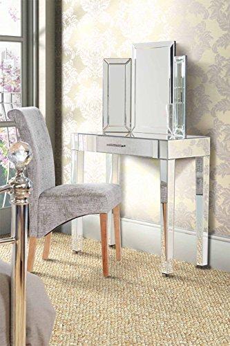 My-Furniture - ZOE - Console/Toletta di lusso a specchio con cassetto