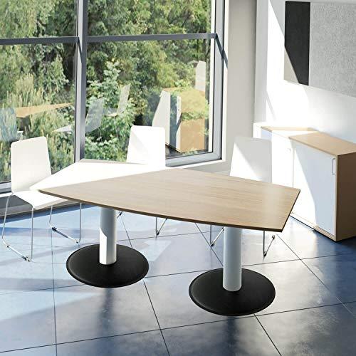 Optima Conferentietafel bootvorm 180x100 cm vergadertafel wit tafel eettafel keukentafel