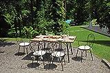 Gruppo Maruccia Tavolo da Giardino con 6 Sedie Set Pranzo da Giardino 6 Posti in Ferro Antiruggine e Mosaico di Ceramica Arredamento per Esterni