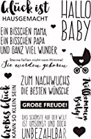 German Words Transparent Clear Silicone Stamp/Seal for DIY scrapbook/photo album Decorative clear stamp sheets ST0138