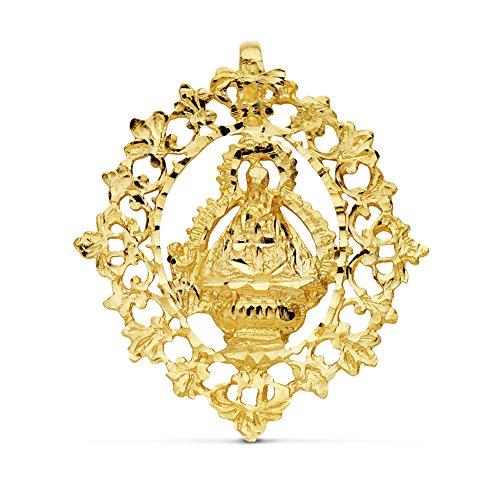 Alda Joyeros Medalla Escudo Virgen de la Cabeza 36x32 mm en Oro de 18 Ktes