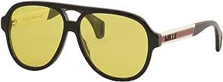 Sunglasses Gucci GG 0463 S- 001 BLACK/YELLOW WHITE