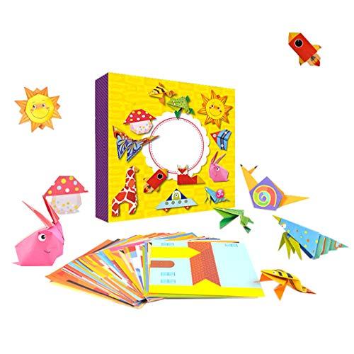 joyMerit Montessori Origami 108 Piezas De Madera De Dibujos Animados En 3D De