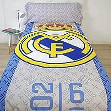 10XDIEZ Funda nórdica Real Madrid 186001   (Cama de 90cm - Blanco)