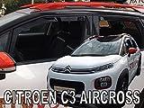 Car Lux AR05421 - Derivabrisas Deflectores de Viento Delanteros y Traseros para C3 Aircross Desde 2017- en adelante