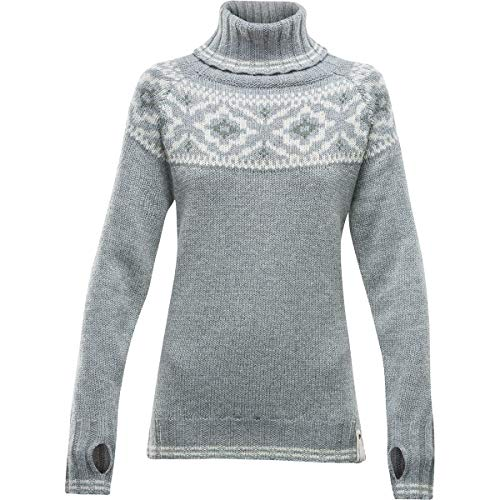 Devold Ona Round Sweater Damen Grey Melange Größe S 2020 Midlayer